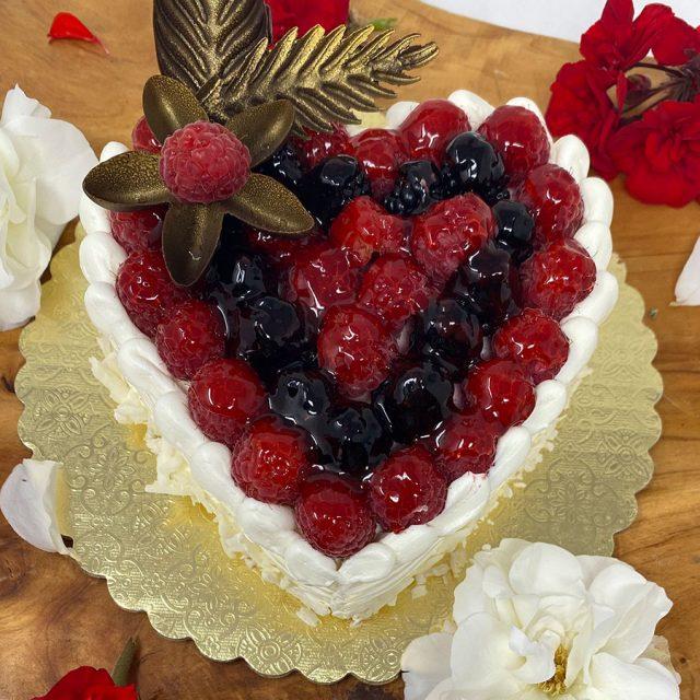 Raspberry Charlotte Heart