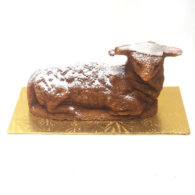 Easter Lamb Shaped Muffin